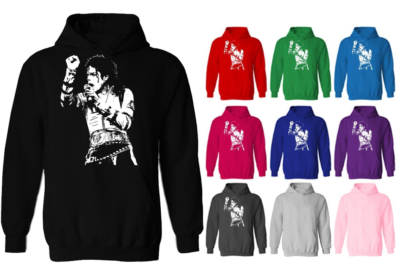Michael Jackson King Of Pop Icon Unisex Pullover Hoodie NEW