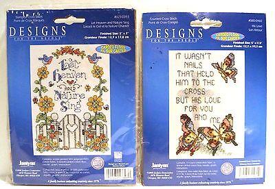 Janlynn Let Heaven And Nature Sing & It Wasn't Nails Mini Stmpd X-Stitch Kits