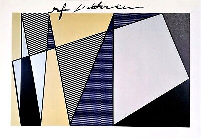 ROY LICHTENSTEIN HAND SIGNED SIGNATURE  * IMPERFECT PAINTING * PRINT W/ C.O.A.