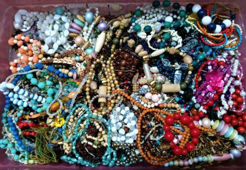 QUALITY Vintage Bead Strand bulk Lot Grab Bag 1lb COLOR RESALE RETAIL Necklace