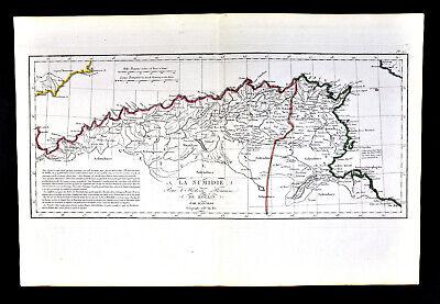1818 D'Anville Map Ancient North Africa Numidia Carthage Algeria Tunisia Roman