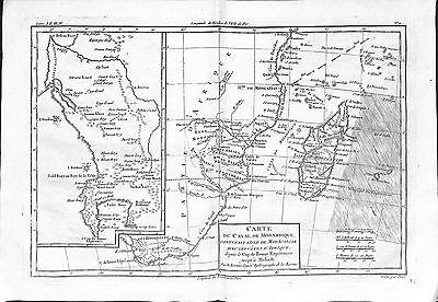 Antique maps, Carte du canal de Mosambique contenant l'isle de Madagascar