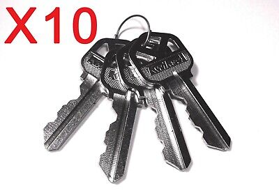 Kwikset Factory Cut Keys 10 Sets Of 4 Alike. Kw1 5pin Free Shipping Smartkey