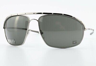 GUCCI Sonnenbrille GG 1758/N/S 6LB 63[]14 115 Aviator Sunglasses Silver Black