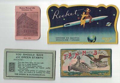 13 Vintage Needle Books Army-Navy,Sewing Susan, Rocket, Woolworth