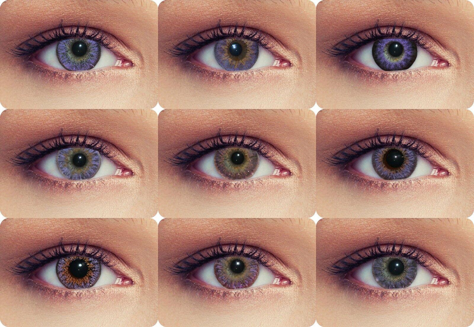 Violette farbige Kontaktlinsen mit oder ohne Stärke lilane Funlinsen 14 Modelle