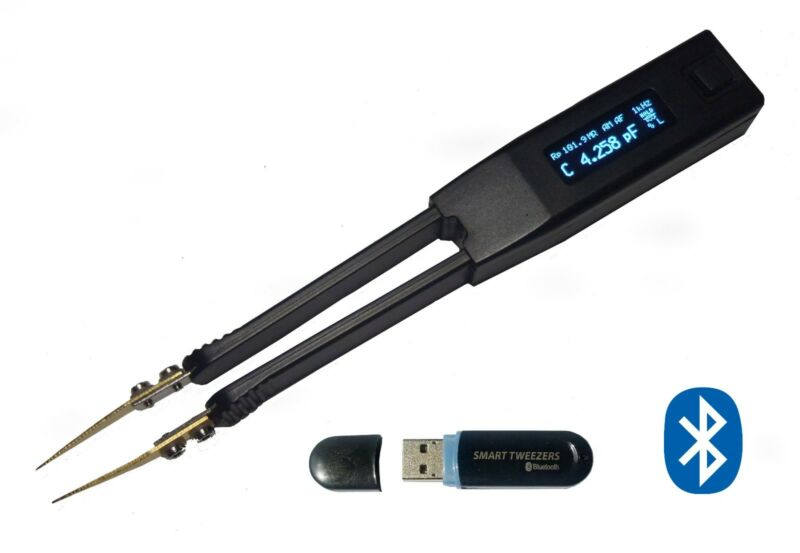 Smart Tweezers ST5S-BTW PRO LCR ESR Multimeter, Cap Tester. BLUETOOTH VERSION W