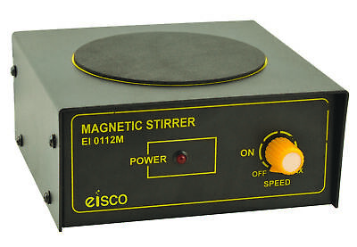 Magnetic Stirrer 4 Round Plate Stirs Up To 500ml Compact Design -eisco Labs