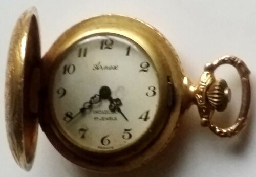 Vintage Armax of France Mini Windup Pocket Watch w Incabloc Movement