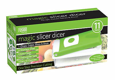 MAGIC SLICER DICER - CHOPS/CUBES/SLICES/DICES- STAINLESS STEEL- FOOD PREPARATION