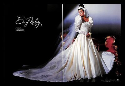 1988 Eve Of Milady Wedding Gown Dress Vintage PRINT IMAGES Majesty Ecstasies 80s