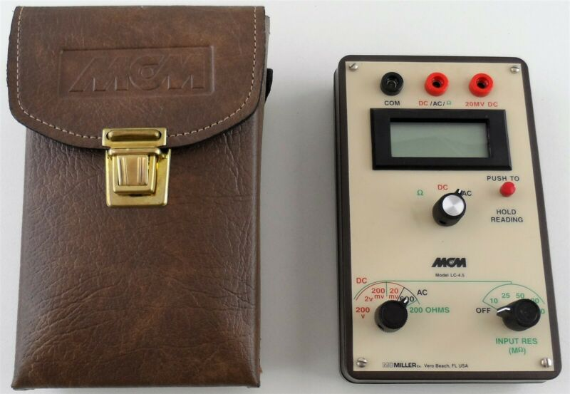 M.C. Miller LC-4.5 Voltmeter with Case Used