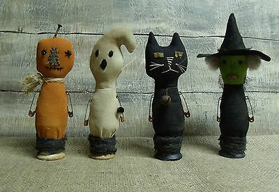 PATTERN~MY PRIMITIVE SALTBOX/SPOOKY SPOOLS/HALLOWEEN/CAT/WITCH/GHOST/PUMPKIN/113