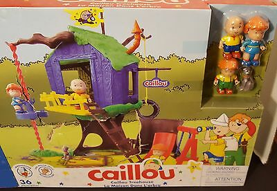 NEW NIB CAILLOU TREEHOUSE TREE HOUSE PLAYSET 4 PVC ROSIE LEO GILBERT FIGURES FRE
