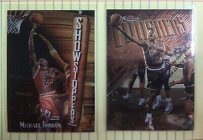 (2) Card Lot Michael Jordan Topps Finest w/ coating Chicago Bulls Non Refractor