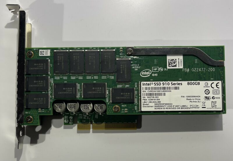 Intel SSDPEDPX800G3 800GB PCIe SSD 910 **90-100% Life** Current FW *Free Ship*