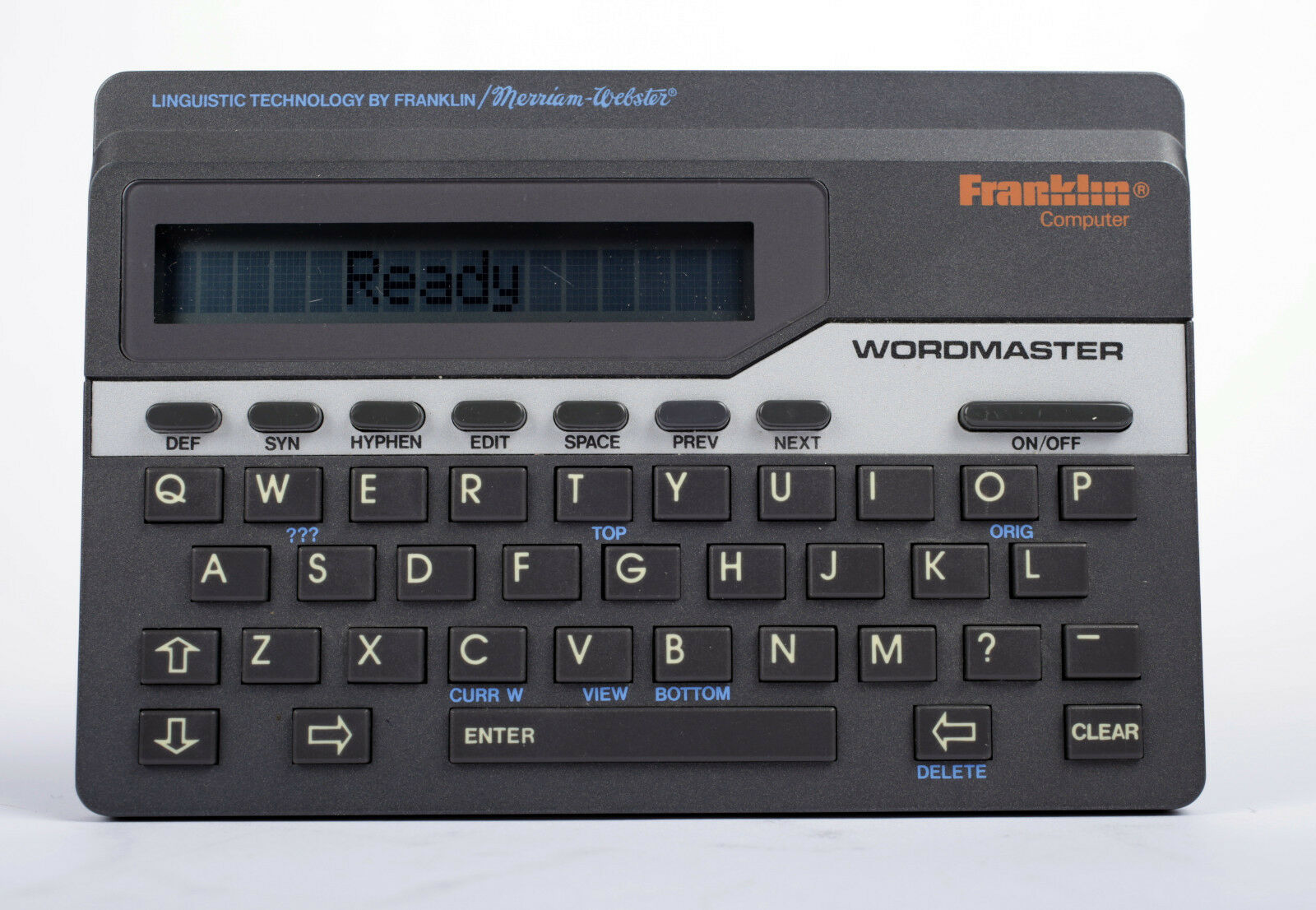 FRANKLIN WORDMASTER DELUXE MERRIAM WEBSTER WM-1055 CORRECTOR DICTIONARY NICE