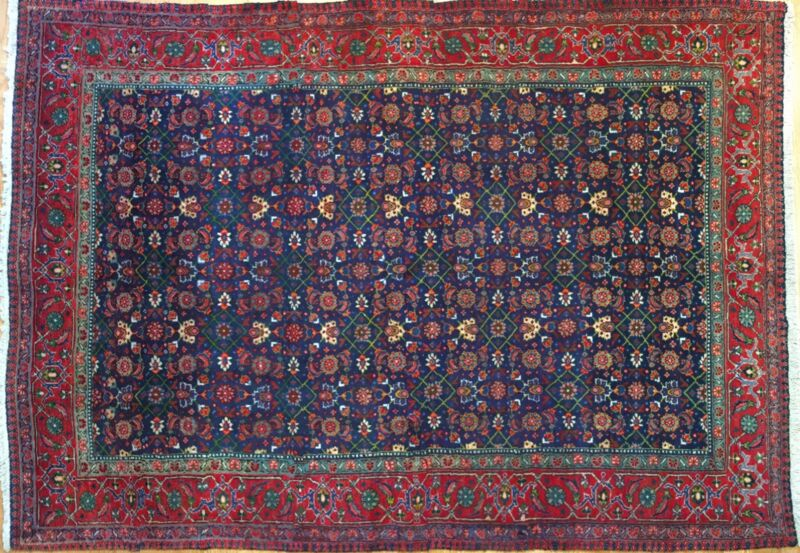 Fantastic Floral - 1930s Antique Oriental Rug - Handmade Carpet - 4.8 X 6.2 Ft.