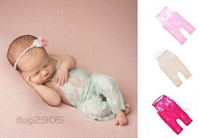 Baby Latzhose Spitze für Neugeborenen Fotoshooting - Kostüm Für Neugeborene Mädchen