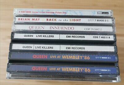 Queen CDS x6  Joblot  Innuendo Live killers Live at Wembley 86 Interview