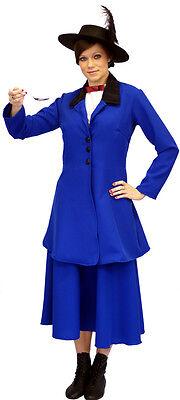 blau viktorianisch / Edwardianisch Mary Poppins Kostüm alle Kinder-Größen