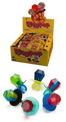 Ring Pops Bulk (Bulk Lot 24 x Ring Pop Lollies 14g Kids Candy Diamond Sweets Buffet Party)