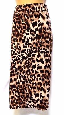 TS skirt TAKING SHAPE plus sz L / 22 Zulu Leopard Ponti Skirt stretch NWT rp$110