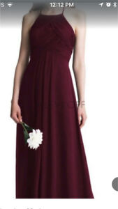 ISO David's Bridal Dress size 10/12 Wine colored