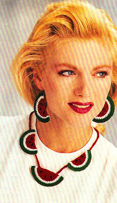 SUMMERTIME Watermelon Jewelry/Apparel/Crochet Pattern INSTRUCTIONS ONLY