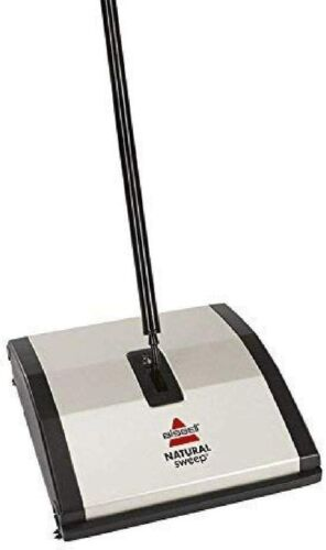 Bissell Natural Sweep Manual Carpet And Floor Sweeper New