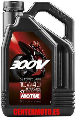 Motul 300v 10W40 4T 4L Aceite de Motor Sintetico