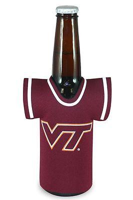 Virginia Tech Hokies Jersey Bottle Coozie [NEW] Kaddy Holder Koozie Drink Cooler Tech Kaddy