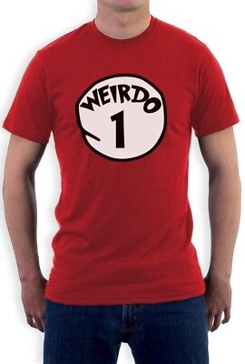Weirdo 1 Costume T-Shirt Halloween Party Matching couples Best Friends Red Thing