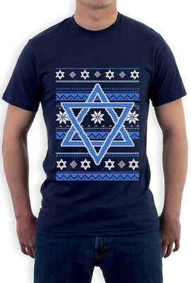 Ugly Holiday Sweater Ideas (Hannukah Nights Ugly Holiday Sweater Star Of David T-Shirt Jewish Gift)