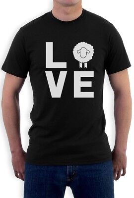 (Love Sheep Statement - Animal Lovers Novelty Gift Idea T-Shirt Cute & Funny)