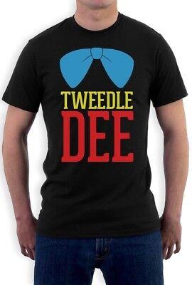 Tweedle Dee Costume T-Shirt Matching Couples Halloween Party Cute Love Tee (Tweedle Dee Halloween Costume)