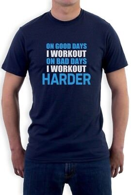Work Out Harder T-Shirt Bodybuilding Gym exercise Best Workout
