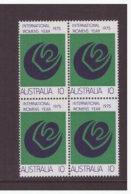Australia 1975 Women Year SG589 block of 4 mint  stamps