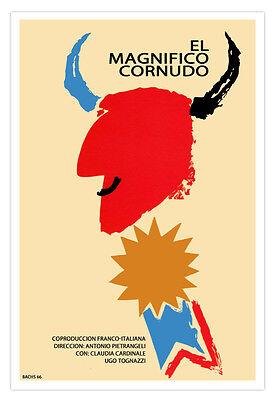 Spanish Movie Poster The Great Cuckold Expressionism Art El Gran Cornudo Decor