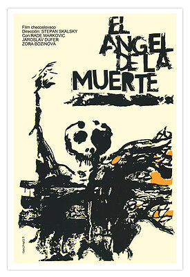 gn movie Poster 4 Death ANGEL.Halloween Horror.Room wall art (Halloween Poster Design)