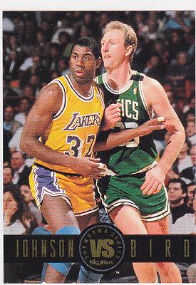 Larry BIRD & MAGIC Johnson DUAL INSERT Basketball Card Skybox LAKERS vs. CELTICS