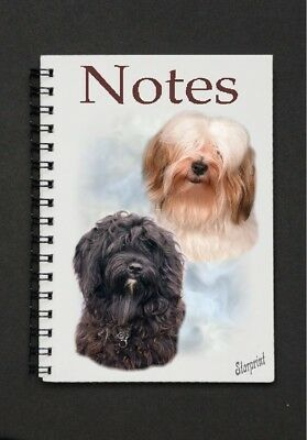 Tibetan Terrier Notebook/Notepad with a small image on every page by Starprint
