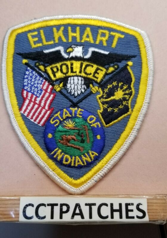 ELKHART, INDIANA POLICE SHOULDER PATCH IN