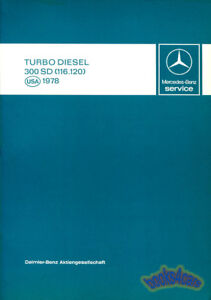 MERCEDES 300SD MANUAL BOOK TURBO DIESEL SHOP SERVICE INTRODUCTION