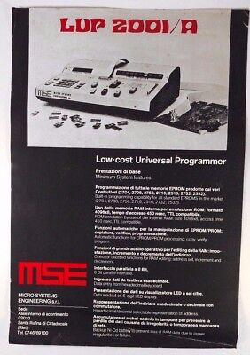 Mse Universal Chip Programmer Lup 2001a Nos Brochure Italian C.o.a.m.