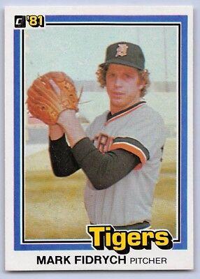"""1981  MARK """"The Bird"""" FIDRYCH - DONRUSS Baseball Card # 8 - DETROIT TIGERS"""