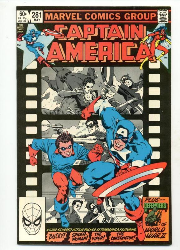 Captain America #281    Mike Zeck Art