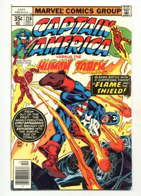 Captain America #216     Human Torch