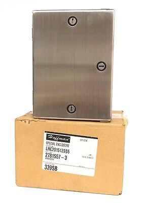 Nib Hoffman Lhc201512ss Enclosure Stainless Steel 4x Hinged Cover Lhc201512ss6