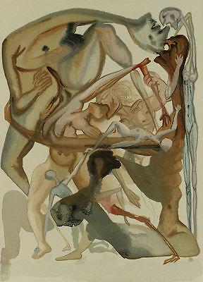 Salvador Dali, Divine Comedy, Inferno / Hell Canto 4 (11) - Original Woodcut